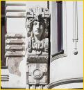Art Nouveau Building<BR>Pillar Figure